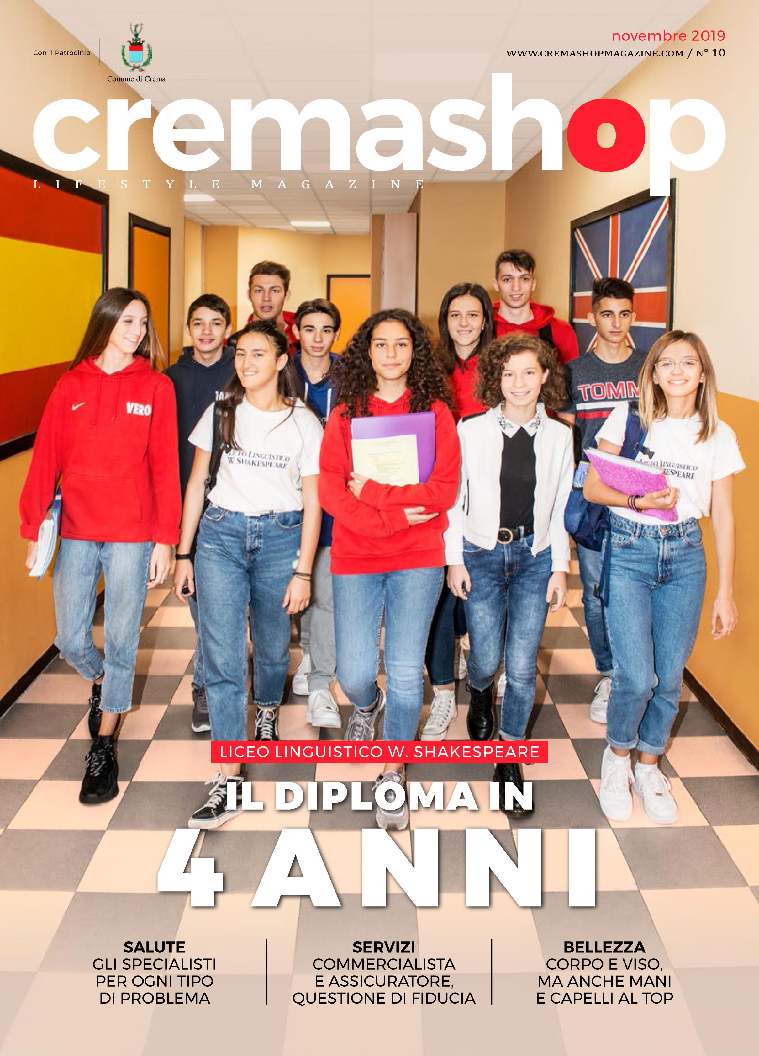 cremashop magazine novembre crema liceo linguistico shakespeare scuola diploma cremasco